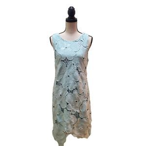 NWT! Ark & Co. Baby Blue Floral Lace Dress
